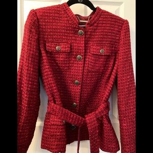 WHBM Red Belted Jacket